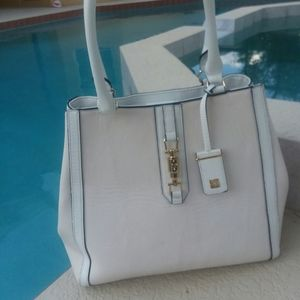 KATE LANDRY White Handbag Large Tote